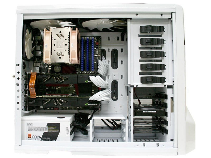 NZXT Phantom - White PC Gaming Case - Interior Left