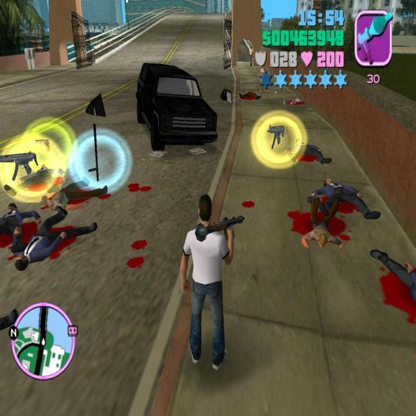Blood in gta VC