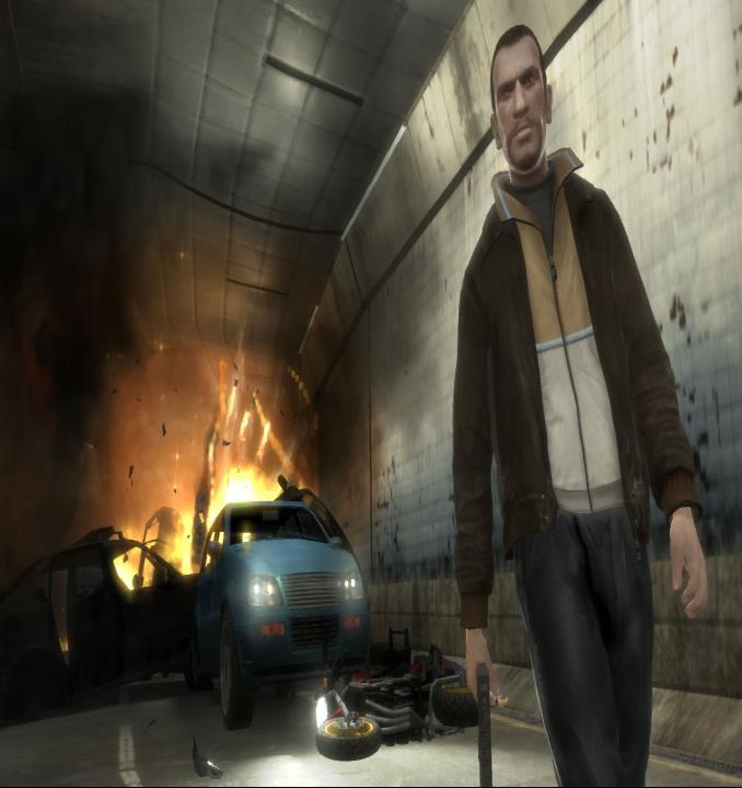 Explosion in gta IV