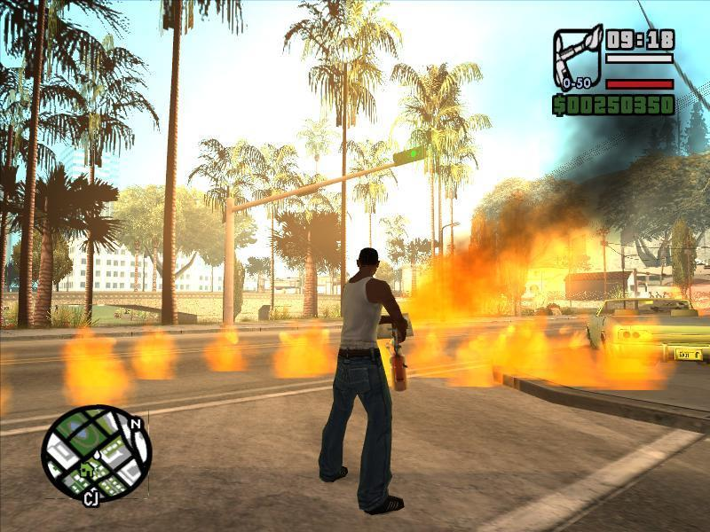 Fire in gta SA