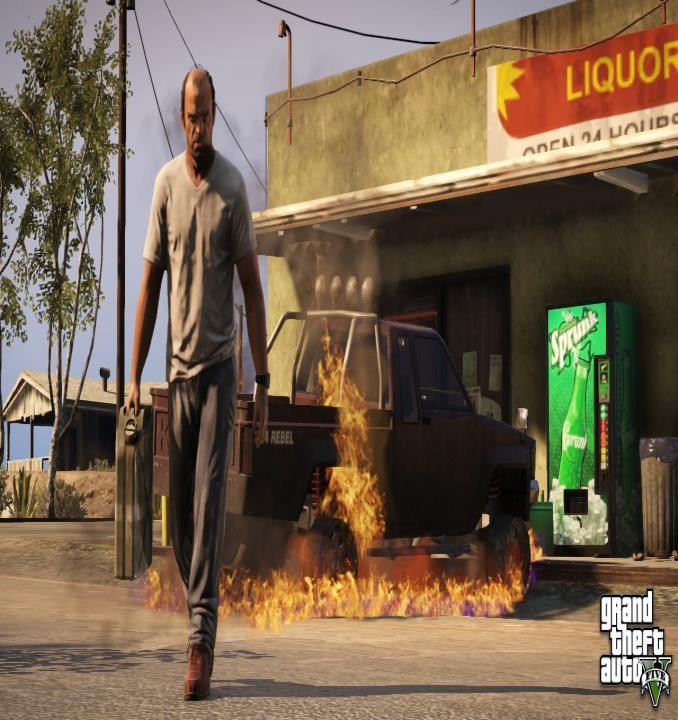 Fire in gta V