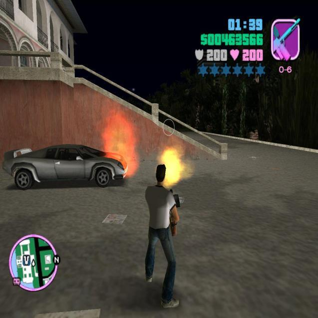 Fire in gta VC