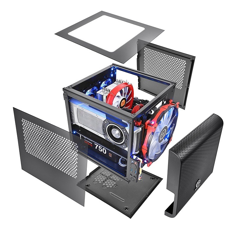 Thermaltake CORE V1 Black Edition Mini-ITX case 3