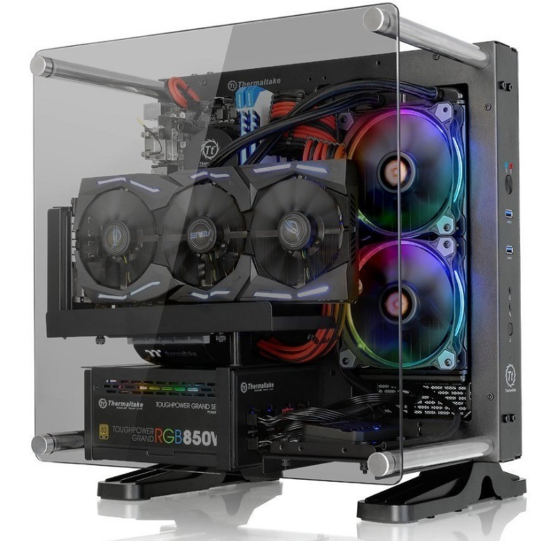 Thermaltake Core P1 Tempered Glass Mini-ITX case 1