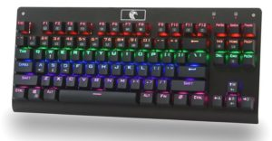 MechanicalEagle Z-77 Multicolor Backlit 87 Keys Mechanical Gaming Keyboard