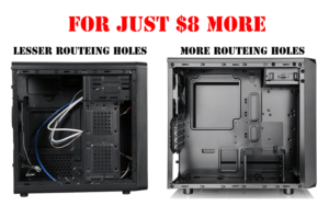 Less vs more routeing holes