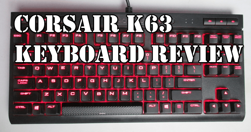 Photo of Corsair K63 mechanical keyboard review