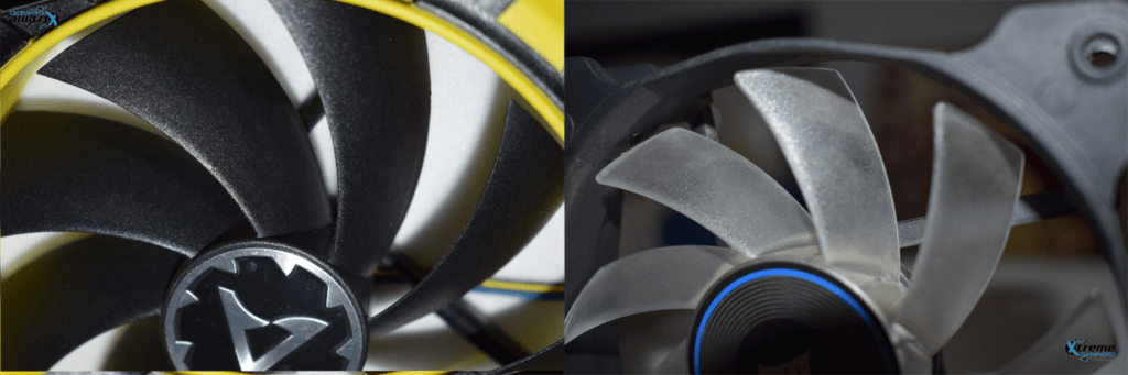 Corsair AF120 vs BioniX F120 Fan blades