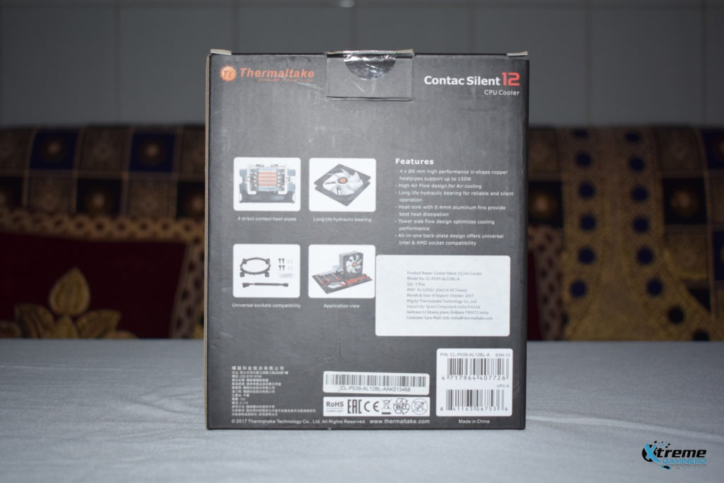 Thermaltake Contac Silent 12 box back