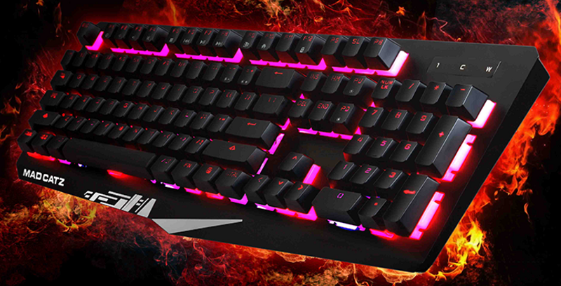 Mad Catz Strike 4 gaming keyboard
