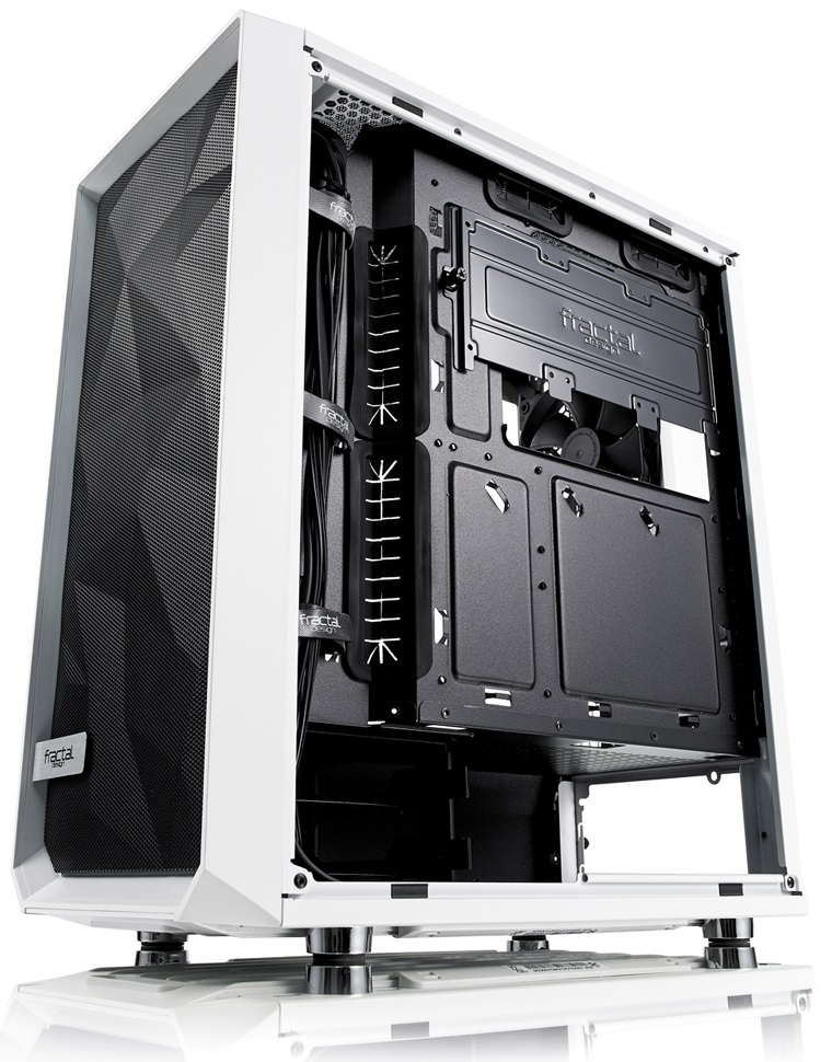 Fractal Design Meshify C White-TG back