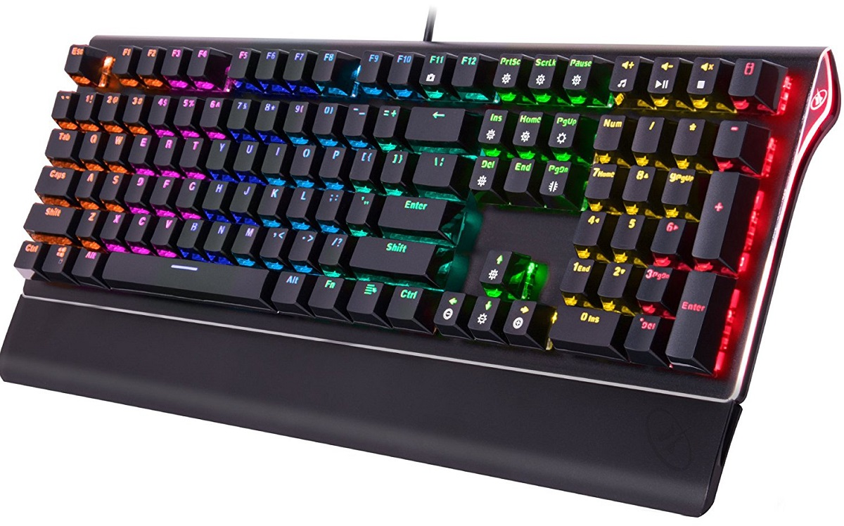ROSEWILL RGB Backlit LED Mechanical Gaming Keyboard
