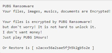 Photo of Bizarre Ransomware which forces you to play PUBG