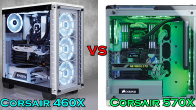 Corsair 460X vs 570X case