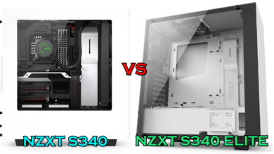 Photo of NZXT S340 vs S340 Elite case comparison