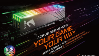 Photo of Gigabyte launches its first DDR4 memory kit with RGB lighting
