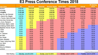 Photo of E3 2018 Program Schedule
