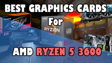 Best Graphics cards for AMD Ryzen 5 3600