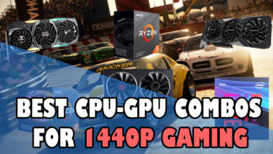 Best CPU-GPU combos for 1440p Gaming