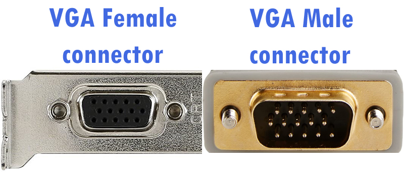 VGA port and connector