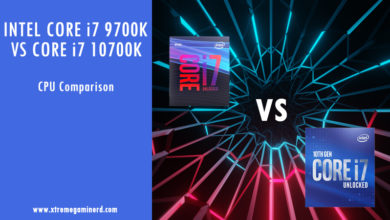 Intel Core i7 9700K vs i7 10700K