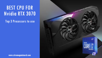 Best CPU for RTX 3070