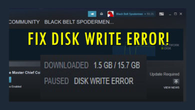 Fix Disk Write Error in Steam