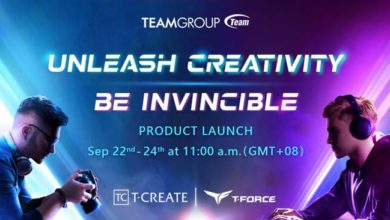 Photo of Teamgroup to launch new products on 22nd September