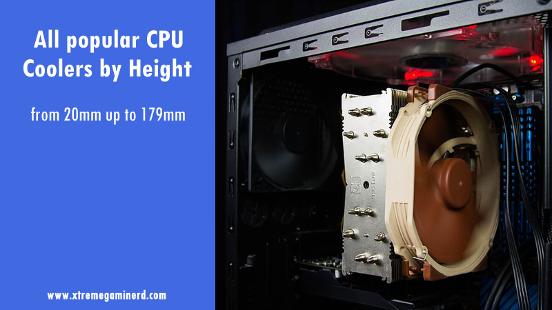 CPU coolers by height