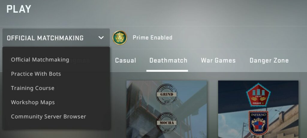 Official Matchmaking
